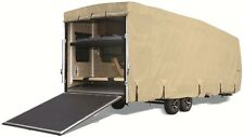 Goldline RV Trailer Toy Hauler Cover Fits 26 to 28 Foot Tan