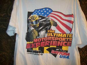 Daytona USA T Shirt Motorsports Experience XL Free Ship for USA