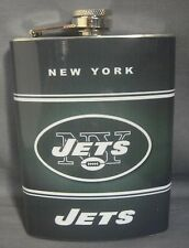 NEW YORK JETS CLASSIC LOGO GREEN STAINLESS STEEL 8oz FLASK NEW NFL