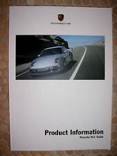 PORSCHE 911 997 TURBO PRODUCT INFORMATION TECHNICAL MANUAL BROCHURE 2007 on USA