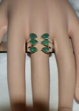 3.00ct. NATURAL GENUINE KAGEM ZAMBIAN EMERALD In STERLING SILVER TRIBAL RING
