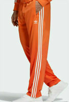 New Men's Adidas Originals Firebird Track Pants Size ED7015 Orange