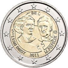 manueduc 2  Euros  BELGICA 2011 Conmemorativa  DIA DE  MUJER TRABAJADORA  NUEVOS