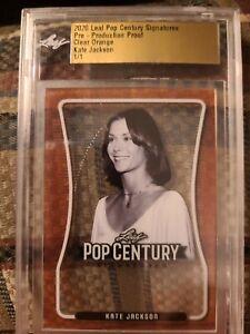 Kate Jackson 1/1 Clear Orange Pre-Production Proof Pop Century Leaf Dark Shadows