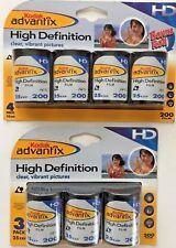 Lot: 7 Rolls Kodak Advantix High Definition Film ISO 200/24 Sealed Expired 2005