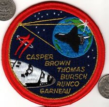 US NASA Space Ship Patch Shuttle Flight Astronaut Mission CASPER BROWN RUNCO