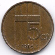 Netherlands : 5 Cents 1986