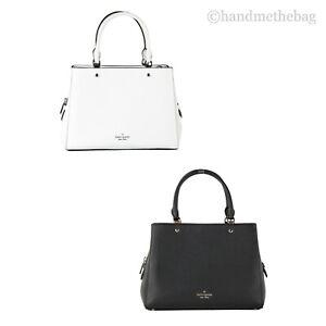Kate Spade Leila Medium Pebbled Leather Triple Compartment Satchel Bag Handbag