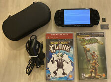 Sony PSP 3000 3001 Piano Black Handheld System W/Chargers, 2 Game, & 2gb Memory