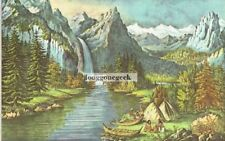 """CURRIER and IVES Yosemite Valley - California """"The Bridal Veil"""" Fall 1952 Print"""
