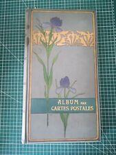 sc000 Album ancien vide circa 1900 arts nouveaux 280 cartes postales emboitage