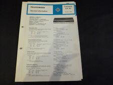 Original Service Manual Telefunken  Concertino Hifi 101