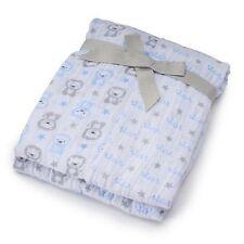 INFANT BABY BOYS JUST BORN MUSLIN SWADDLE BLANKETS, 2 PK.