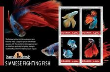 Uganda 2014 Siamese fighting Fish Fishes S/S UGN14206
