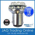 12V 18-LED BA15D 1142 WHITE GLOBE - Boat/Caravan/Auto/Anchor/Stern Light Bulb