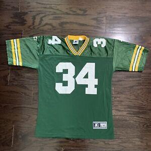 Vintage Starter Green Bay Packers NFL Football Jersey 34 Edgar Bennett Mens L/XL