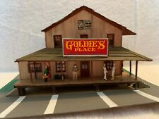HO Scale Goldie's Place Wood Kit Custom Assembled