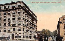 TORONTO CANADA TRADERS BANK & BLOOR ST~VALENTINE POSTCARD 1912 EXHIBITION PMK