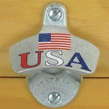 USA Flag Patriotic Starr X Wall Mount Bottle Opener NEW