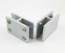 2 Pieces 180 Degree Glass Shelf Clamp Clip Bracket Shelf Support / Aluminum