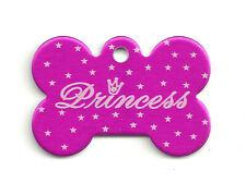PRINCESS OR PRINCE Pet ID BONE Shape TAG Personalized Royal K-9/Kitty