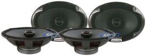 """4) Alpine SPE-6090 600W RMS 6"""" x 9"""" Inch 2 Way Car Audio Power Stereo Speakers"""