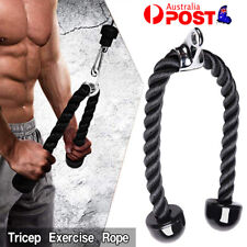 Gym Cable Attachment Tricep Exercise Rope Extension Single Handle Triangle V Bar