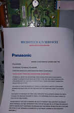 PANASONIC TNPA5349 (AB) TX-P42U30 /TX-P42S31 /TX-P42S30 REPAIR SERVICE ONLY