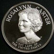 1971 Franklin Mint Rosalynn Carter Silver 33.10 Grams Limited 925 Proof Coin