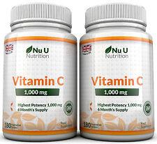 Vitamine C 1000mg Nu U 2 bottles Grande Force 360 Tablets 100% Garantie