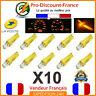 10 x T5 LED Voiture Orange Ampoule Tableau de Bord Compteur Tuning 12V