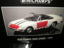 1:18 Minichamps Alfa Romeo Spider 1970 Rijkspolitie POLICE Nº 180120994 in neuf dans sa boîte