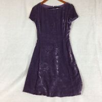 Oscar By Oscar De La Renta Purple Velvet Dress