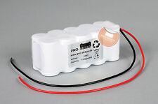 Akkupack 12V 1700mAh (1,7Ah) Notbeleuchtung Einzelbatterieleuchte Notlicht NiCd
