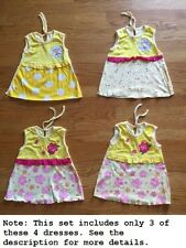 Lot x 4   Baby Girls Sleeveless Cotton Dresses Floral Polka Dots for 3-6 months