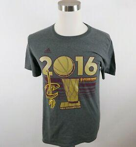 NBA Brand Cleveland Cavaliers 2016 Champions Mens SS Gray T Shirt Adidas Medium