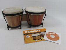 More details for wooden bongo drum set size 6