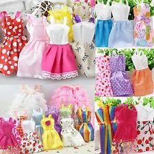 10X Schöne handgemachten Partei Kleidung Mode Kleid für Barbie-Puppe Mixed Charm