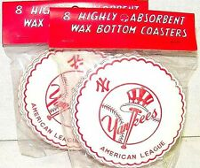 1950s NEW YORK YANKEES Drink Coasters Unopened Vintage Made In Japan - 2 Packs