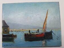 Guy Le Florentin, huile sur toile, marine bord de mer voiliers, tableau