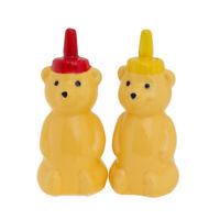 2pc Novelty Honey Bear Figurine Salt & Pepper Shakers Set Kitchen Décor Home