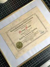 Doktor Urkunde mit handgeprägtem Wachssiegel TITEL H.C Ehrentitel DR