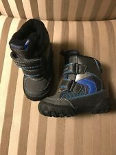 New Geox Boys Kids Sz 20 Winter Boots Snow Blue Gray Black