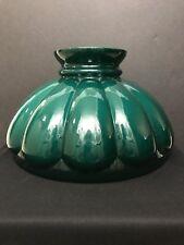 "10"" Green Cased Glass Melon Oil Kerosene Lamp Shade Fits Aladdin, Rayo, B&H"