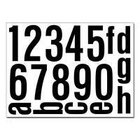 Hausnummer Aufkleber Set selbstklebend Ziffern Buchstaben reflektierend o. matt