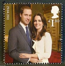"""Prince William and Kate Middleton"" illustrated on 2011 Stamp - U/M"