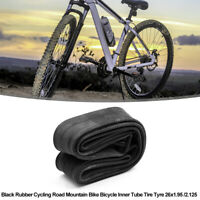 Black Rubber Cycling Mountain Bike Bicycle Inner Tube Tire Tyre 26 x 1.95 /2.125