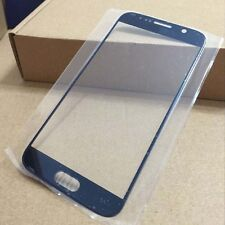 Blue Front Screen Outer Glass Lens Replacement Part For Samsung Galaxy S6 G9200