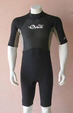 Short Wetsuit Spring Suit for Men 2mm Back Zip, Size XS, Grey/Black