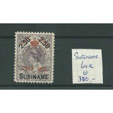 Suriname 64a  Kroontjes-opdruk  VFU/gebr  CV 300 €